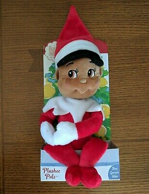 NEW The Elf on the Shelf Plushee Pal Dark Skin Tone Brown Eyes Plush Doll Boy