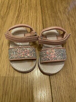 Baby Girls Next Signature Size 3 Glitter Sandals Cute Hard Sole