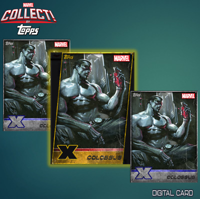 2x SILVER STORM Topps Marvel Collect Digital 2019 X-MEN W13 GOLD DIE-CUT