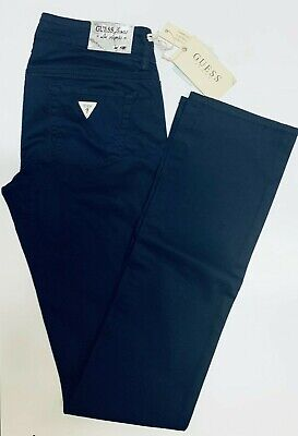 Pantalone Donna GUESS Taglia 26 Jeans Woman Pants col. Blu SLIM FIT W01125