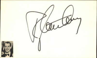 "Ray Anthony Bandleader Glenn Miller Orchestra Signed 3"" x 5"" Index Card"