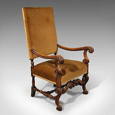 Antique Elbow Chair, English, Walnut, Armchair, Victorian, Circa 1880