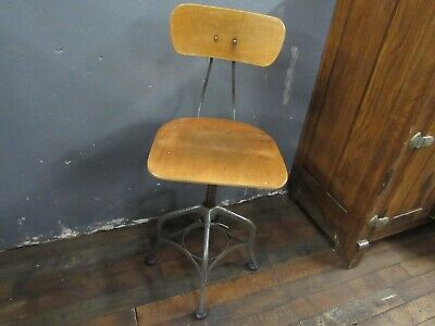 Awesome Antique Adjustable Architect Or Drafting Stool Circa Early Bralicious Painted Fabric Chair Ideas Braliciousco