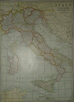 Vintage 1929 ITALY SARDINIA MAP Old Original & Authentic Atlas Map Quick N Free