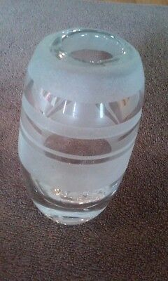 Elegant Murano Art Style Hand Blown (Etched) Glass Vase