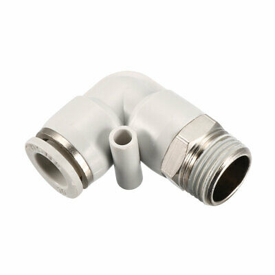 Pneumatic Push To Connect Fitting Male Elbow 10mm Tube OD X 3/8BSPT Thread
