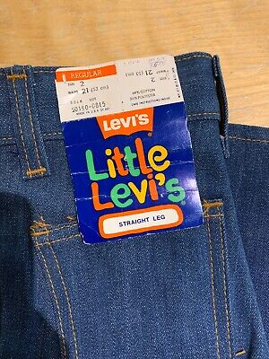 Age 2 Blue Little Levi Jean - New with Tags - Deadstock