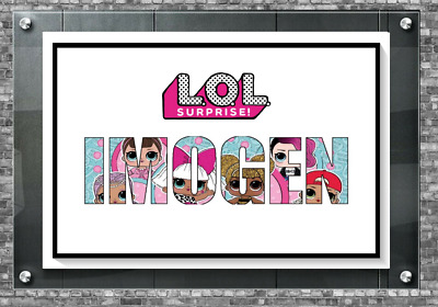 LOL Doll Personalised Name Bedroom Wall Artwork Poster Print A4