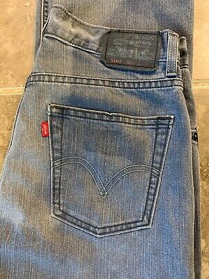 Levi Strauss 514  Slim Straight Fit  Red Tab Jean - W27 L29 (Age 16/18) - Grey