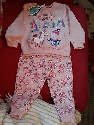 Peppa Pig Pink Girls Jumper And Trousers Set Bnwt 12-18 Months