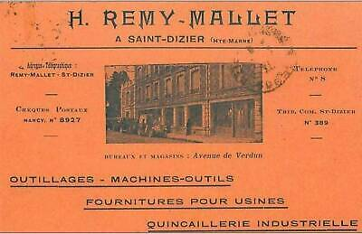 52.Saint-Dizier. H Remy-Mallet.outillages.ma Chines-Outils.fournitures Pour Usin