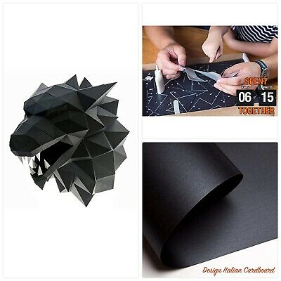Paperraz 3D Wolf Head Animal Building Trophy Puzzle Low Poly PaperCraft Kit for