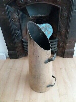 Antique lovely Old Light Wood Composite Rare Arts & Crafts Coal Scuttle.