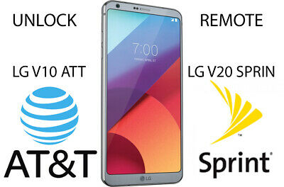 UNLOCK REMOTE LG V10 At&t AND  V20 SPRINT SUPPORT ANDOID 7 At&t Android 8