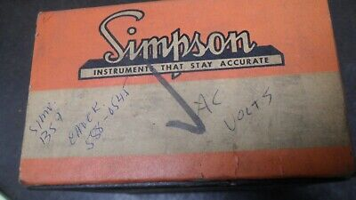 Simpson Burmeister  Electric Panel Meter Gauge AC Volts