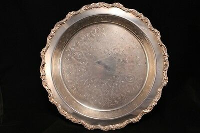 Old English By Poole Silver Plate Footed Pie Dish 5017 12""