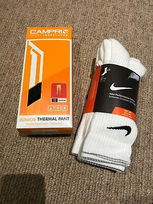 Campri Thermal Base Layer Pant Age 13 And Nike Sports Socks UK 5-8