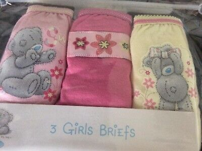 Girls NEW White TATTY TEDDY Me to You KNICKERS Cotton 5 - 6 years  3 pairs PINK