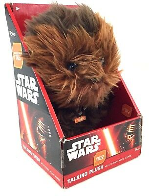 "Star Wars The Force Awakens Brown Plush Talking Chewbacca 9"" Wookie Language NEW"