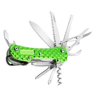 15 in 1 Multi-Tool Key Chain Pocket Swiss Army Knife with Premium Gift Box