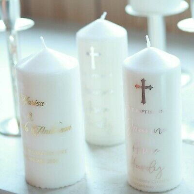Personalised Baptism/Christening/Wedding Unity/Memorial/Naming Day candle