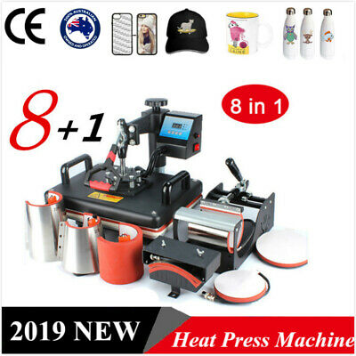 8 in 1 Heat Press Transfer Machine Digital T-Shirt Mug Hat Cup Plate 0q