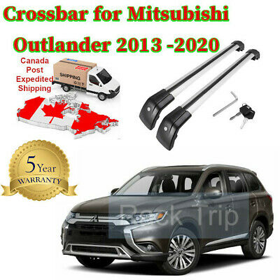 Baggage Roof Rack Crossbar Fits Mitsubishi Outlander 2013-2020  with Flush Rail