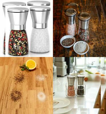Salt and Pepper Mill | Ceramic Grinder Set | Adjustable Coarseness Mills...