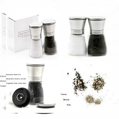 Eighteen Valley Salt and Pepper Mill Set - Premium Stainless Steel and...