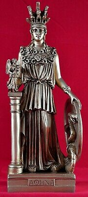 Athena Minerva pallas greek statue 11 inch NEW patina gold New Free Shipping