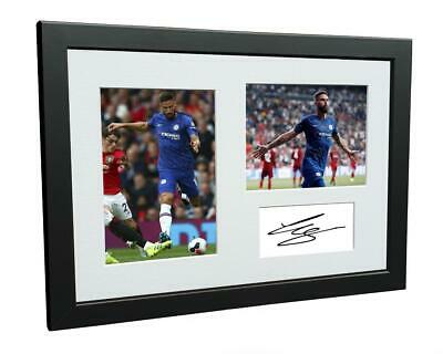 Signed Olivier Giroud Chelsea Autograph Photo Photograph Picture Frame Gift A4