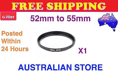 52-55mm Metal Step Up Ring Lens Adapter 52mm to 55mm for Camera Filters