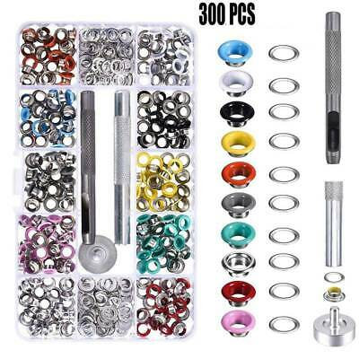 300x Eyelets Buckle Kit with Fixing Tool DIY Repair Clothing Crafts Bags Rivets