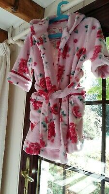 Monsoon Girls Dressing Gown Pink With Roses Age 2/4 Years Sweet Dreams