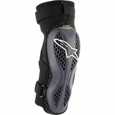 Alpinestars Sequence Knee Guards - Anthracite/Flo Ylw, All Sizes