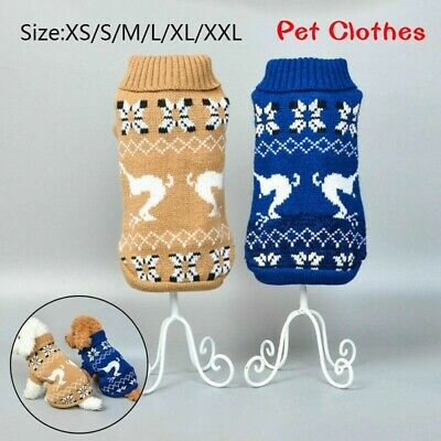 Knitted Jumpsuit Warm Sweater Coat for Pet Dog Cat Puppy Vest Jacket Clothes A+