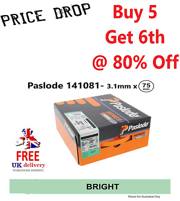 *SPECIAL OFFER* Offer Nail Gun Refill Paslode 141081-3.1 x 75mm -Qty:2200 /2 Gas
