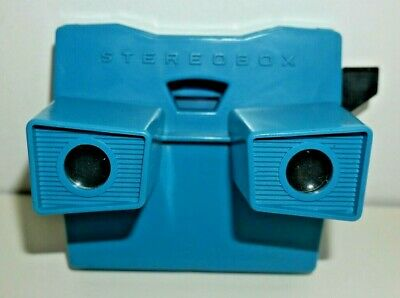 VINTAGE STEREOBOX VIEWER VIEWMASTER GDR EAST GERMANY 1980's RARE BLUE   F730