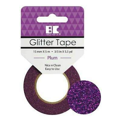 Best Creation Glitter Tape 15Mmx5m - Plum