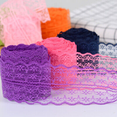 10 Yards Lace Ribbon 45MM Lace Trim DIY Embroidered For Sewing Decoration