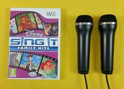 wii DISNEY SING IT FAMILY HITS - 1/2 Logitech Microphones - Make Your Selection