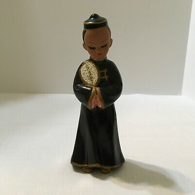 """Asian Figurine by Exclusive BP ~ Chalkware ~ 8"""" Tall ~ Vintage"""