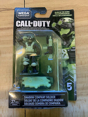 mega construx call of duty Shadow Company Soldier Glow In The Dark