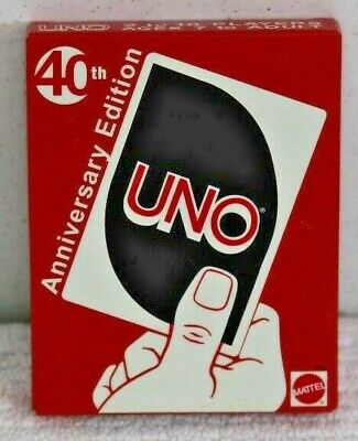 NEW Mattel UNO 40TH ANNIVERSARY EDITION NEW card game