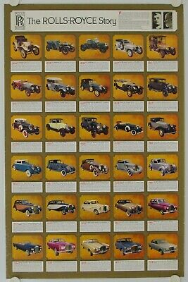 Affiche THE ROLLS ROYCE STORY 1904 - 1970 Printed in USA