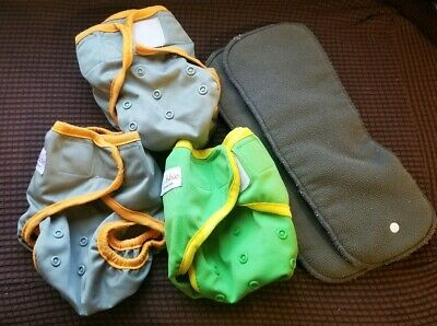 EcoAble Diaper Covers With Snap In Inserts Size One And Two Ai2