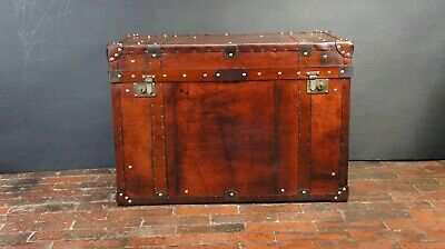 Bespoke Antique Leather Steamer Trunk Handmade Straight From Our Workshop