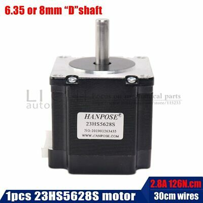 23HS5628 Nema 23 Stepper Motor 57 motor 4-lead 165 Oz-in 56mm 2.8A 6.35mm/8mm