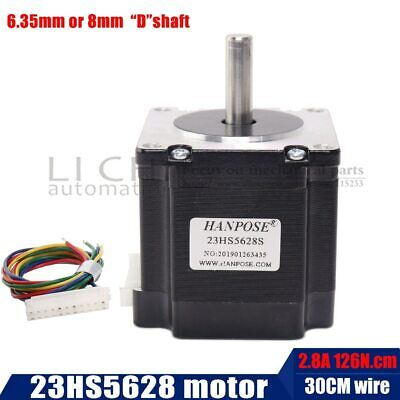 Free shipping 4-lead Nema 23 23HS5628S Stepper Motor 57 motor 165 Oz-in 56mm
