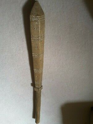 ANTIQUE SAMOAN CARVED WOODEN CLUB, oceanic, not fijian,not knobkerrie,